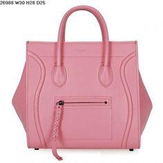 Celine Luggage Phantom Handbag Smooth Calfskin Pink