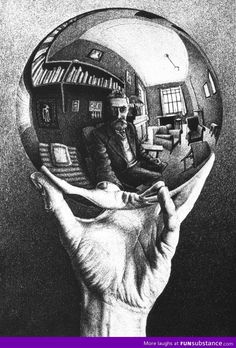 The original selfie. M.C. Escher