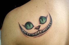 I picture Behemoth (Master and Margarita) as having the face of the Cheshire Cat. It's just fitting in every way.