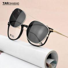 0c14fb6cba Buy Fashion Spectacle Frame 2018 TAG Brand Eyeglasses Men Women With on  Polarized Sunglasses clip Myopic computer glasses frame Nerd