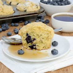 Blueberry Corn Muffins {Sweet Pea's Kitchen}