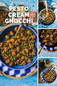 Vegan and gluten-free cauliflower gnocchi tossed in homemade sun-dried tomato pesto sauce is a very quick and delicious meatless weeknight meal! #vegan #gnocchi #sundriedtomatoes #pesto #pasta #glutenfree #cauliflower #weeknightmeal Tomato Pesto, Pesto Pasta, Vegetarian Recipes Dinner, Delicious Vegan Recipes, Gluten Free Gnocchi, Creamy Pesto, Vegan Parmesan, Gnocchi Recipes, Vegan Smoothies