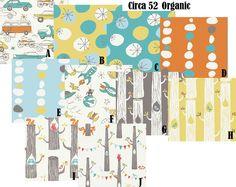 CUSTOM CRIB BEDDING - 4 Piece Set - Circa 52 100% Organic Cotton Bedding. $455.00, via Etsy.