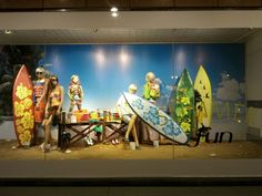 Vitrine de verão - surf