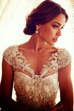 Gorgeous white wedding dress embellished with detailing | Fashion Inspiration