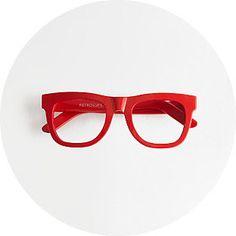 Super Ciccio red frame glasses