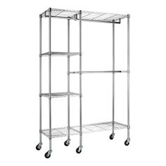 Bed Bath And Beyond Garment Rack Extraordinary Bed Bath & Beyond Oceanstar Garment Rack With Adjustable Shelves And Design Decoration