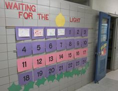 Great Idea: A Special Advent Calendar. An Advent calendar which eventually forms a candle was created in our hallway.