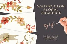 Floral Fall Watercolor graphics by By Lef on @creativemarket