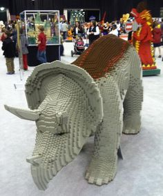 Dinosaurs built lego at Lego KidsFest in Cleveland.