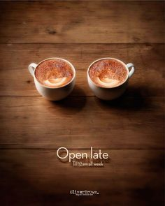 coffe shop, oliver brown's ads open late (sleepy eyes in 2 cup of coffee