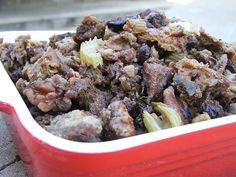 A Thanksgiving Stuffing Recipe: Savory Fig and Walnut Stuffing
