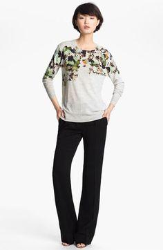 3.1 Phillip Lim Floral Print Sweater   Nordstrom