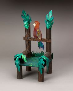 Explore the rainforest! Wildlife knowledge takes center stage when students construct this animal- and plant-decorated chair.