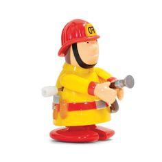 Au feu les pompiers ! Voici Théo le super héros prêt à affronter les flammes !    On le remonte et hop il court !    H : 6,5 cm.     4,50 € http://www.lafolleadresse.com/les-gadgets/5139-jouet-mecanique-pompier.html
