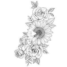 Temporary Tattoo Designs, Tribal Tattoo Designs, Small Tattoo Designs, Flower Tattoo Designs, Geometric Tattoos, Tattoo Small, Tattoo Floral, Floral Tattoo Design, Om Tattoo
