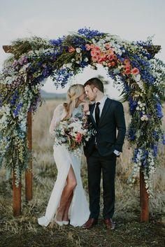 Couple marié en printemps