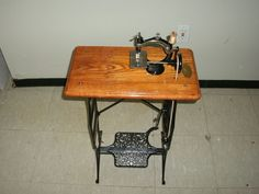 Antique 1880'S Ideal Child'S TOY Treadle Sewing Machine Restored W Daddy Cover | eBay