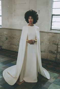 She arrived to her wedding on a bike, in an ivory jumpsuit. And then she got married in this. How can you not love Solange? All the pretty birds » SOLANGE KNOWLES' WHIMSICAL WEDDING