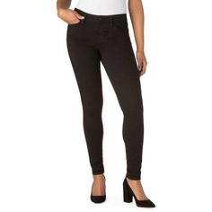 Signature by Levi Strauss & Co. Women's Modern Skinny Jeans, Black