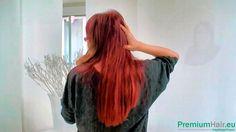 Elena wünscht sich lange, dichte, burgundrote Haare - Echthaartressen in...