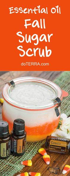 doTERRA Essential Oils DIY Festive Fall Sugar Scrub Recipe