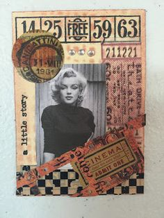 ATC - Artist Trading Card - Vintage Hollywood...Marilyn Monroe