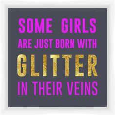 Some Girls Glitter Giclee Print Framed Textual Art