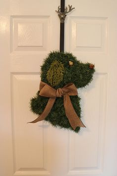 Your place to buy and sell all things handmade Wreath Crafts, Christmas Crafts, Christmas Decorations, Christmas Ornaments, Dog Decorations, Holiday Decor, Horse Head Wreath, Dog Wreath, Wreaths And Garlands