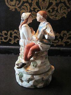 Price Music Box Man and Woman Serenade Porcelain
