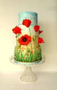 My absolute favourite!! I love this - Poppy Field Wedding Cake