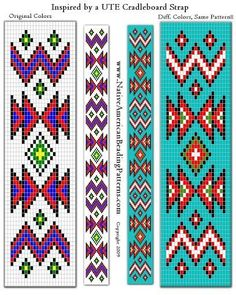 Discover thousands of images about native american beading patterns Native Beading Patterns, Beadwork Designs, Seed Bead Patterns, Peyote Patterns, Weaving Patterns, Cross Stitch Patterns, Jewelry Patterns, Native American Patterns, Native American Beadwork