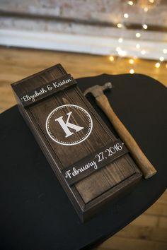 Unique wedding ceremony idea - write love letters to future spouse, enclose in wine box and hammer wine box during ceremony - save the wine + love letters for a rainy day {Green Holly Weddings}
