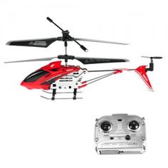 360 Degree Rotation 3.5 Channels R/C Coaxial Remote Control Rechargeable Helicopter Model - Red