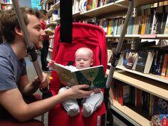 Choosing his first book from Foyles London Raising, Bear, London, Books, Livros, Book, Bears, Libri