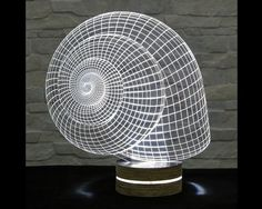 3D LED Lamp, Snail Shape, Acrylic Lamp, Art of Light, Home Decor, Artistic Lamp, Night Light, Table Light, Office Decor, Nursery Light by ArtisticLamps