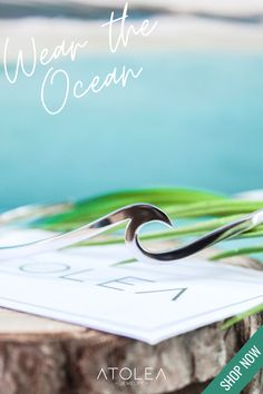 Wear the Ocean! Check out this WAVE BRACELET. Discover more minimalist and ocean-inspired jewelries from Atolea Jewelry. We offer free shipping anywhere you are! Wear the ocean with style at atoleajewelry.com