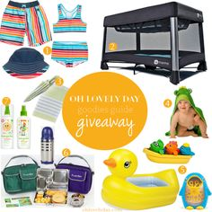 Win everything you see and more, from @polarnopyretusa @4moms @munchkin @zoocchini @planetbox @babyganics & @lulujobaby in the Goodies Guide Summer Fun Giveaway on ohlovelyday.com #giveaway #summer #familyfun