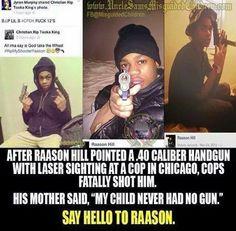 A city with tough gun laws, funny no shortage of guns in criminals hands.