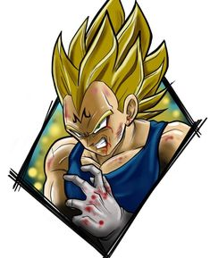 Majin Vegeta, Dragon Ball Z. - Dragon ball Z - Cartoon Tattoos, Anime Tattoos, Majin Tattoo, Vlone Logo, Football Tattoo, Dope Wallpapers, Desenho Tattoo, Cyberpunk Art, Dragon Ball Gt