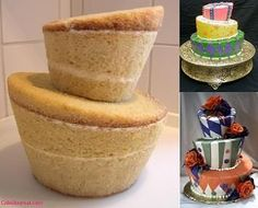 How to make whimsical cakes — {tip} cut up the reamining pound cake and use it to dip into a delicous fondue if you didnt want to make trifle. Or you also use it to roll truffles in. #FairyCakes,Yummy!
