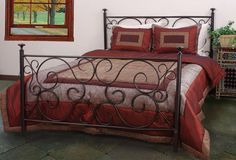 This stunning twin-size bed will bring instant vintage charm into a bedroom. The solid steel construction is durable and sturdy and features an antique-style copper finish, while the traditional styling will work well in classically designed bedrooms.