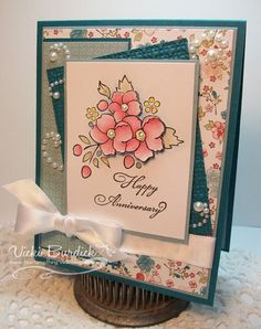 Very pretty card.  I'm sorry this Stampin' Up! set is retiring. :D