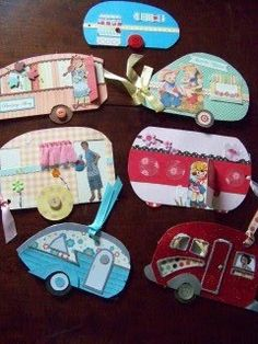 Inspiration: handmade trailer cards. These also make nice gift tags.