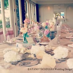 Beachfront Wedding  by AYANO TACHIHARA Wedding Design