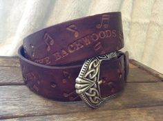 Country Lyrics Leather Belt by GratifyDesign on Etsy, $48.00