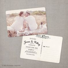 "Vintage Save the Date Postcard - the ""Jessa"". $39.00, via Etsy."