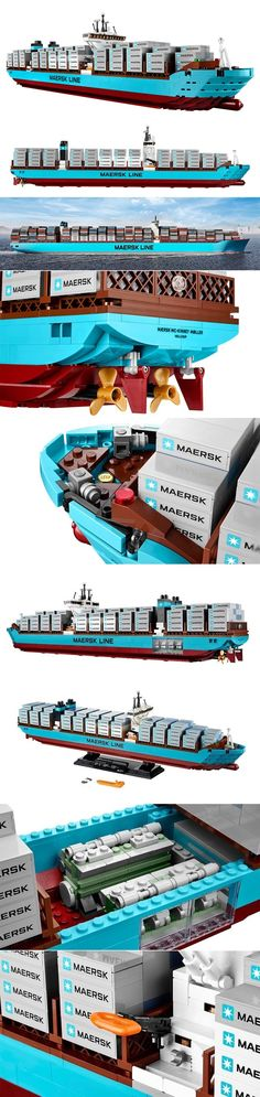 Maersk Triple E - The world's largest cargo ship is now available as a giant Lego set