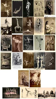 Vintage Circus Performner Acts Image Download Contents