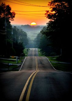I would like to drive and drive and drive on this road, always toward the sunset. Never looking back.